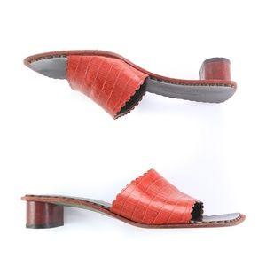 Donald J Pliner Sandals Slides Square Toe Italy